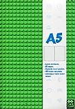 Zeszyt pamietnik A5 w linie 80 kartek zielony + 100 pixeli