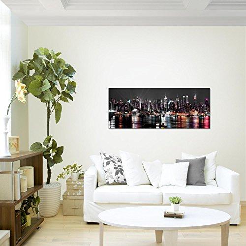 Bilder 100 x 40 cm - New York Bild - Vlies Leinwand - Kunstdrucke -Wandbild - XXL Format - mehrere Farben und Größen im Shop - Fertig zum Aufhängen - 601912a - 2