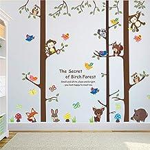 c8f99a66a59 Pegatina pared Secretos del Bosqu ideal vinilo para paredes cristal  ..habitaciones niños salas lectura