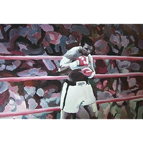 Muhammad Ali 28x 16dipinto a olio su tela ma Box Framing disponibili su richiesta, si prega di contattarci via email per dettagli. Molti Altri Ali e boxe, disponibile anche come qualsiasi dimensione Desideri. Si prega di contattarci via email per dettagli. - Framing Olio Su Tela