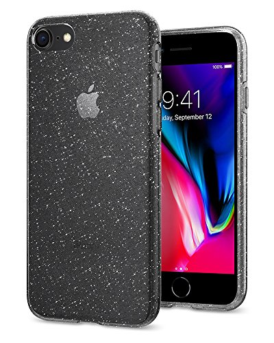 Coque iPhone 7, Coque iPhone 8 / 7, Spigen® [Liquid Crystal] Ultra Fine Premium TPU Silicone [Crystal Space] Prime Semi-transparent Fit / Exact / NO Case Encombrement souple Coque Pour iPhone 7 (2016) LC_Glitter Crystal
