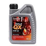 Triple QX Premium 10W-40semi-sintetico olio motore è incorporata nel Regno Unito con il massimo livello di scorte di base e avanzata tecnologia additiva. It soddisfa i livelli di prestazione e Specifiche per i veicoli che richiedono questo olio. Tr...