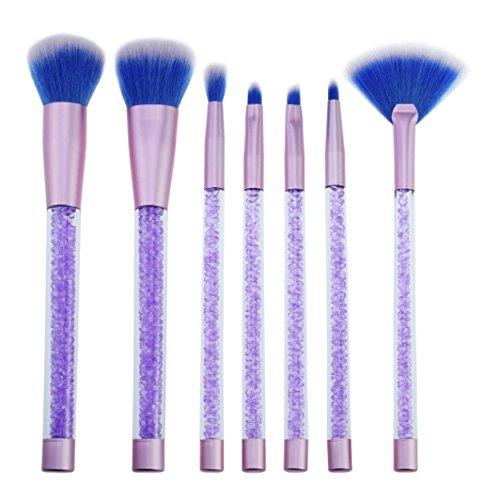 Sisit 7 Piecs maquillage cosmétique brosse maquillage pinceau fard à paupières brosse (Violet)