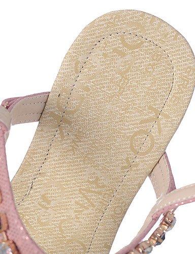 UWSZZ IL Sandali eleganti comfort Scarpe Donna-Sandali-Tempo libero / Formale / Casual-Infradito-Basso-Sintetico-Blu / Viola / Dorato Blue
