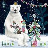 Mila Marquis Postkarte 140x140mm ~ Eisbär ~ Weihnachten