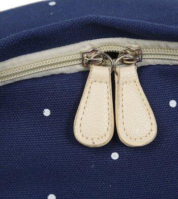 Mode Punkt-Muster-Segeltuch-Rucksack Teenager Schultasche 14,6 Zoll Laptop-Rucksack + Messenger Bag + Purse (Dunkelblau) - 5