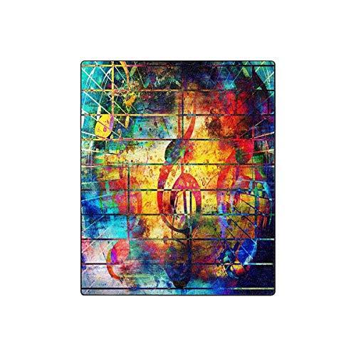 Mesllings Collage con notas musicales y el violín Clef Super suave manta...