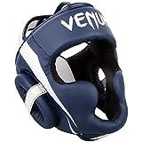 Venum Elite Casque de Boxe Mixte Adulte, Blanc/Bleu Marine
