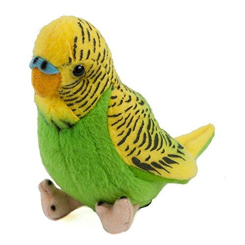 Teddys Rothenburg Kuscheltier Wellensittich Tolly 12 cm Plüschtier grün/gelb Plüschvogel