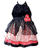 Ishika Garments baby girls black frock