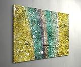 Paul Sinus Art Leinwandbilder | Bilder Leinwand | Wand | Bild auf Leinwand | Wandbilder | Wandbild | Kunstdruck | Wanddeko | 120x80cm Abstraktes Gemälde