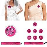 InnoBase Junggesellinnenabschied Schärpen Hen Party Team Braut Abzeichen Sash Team Bride Badges Mädchen Bachelorette Party Zubehör Einstellen, 16 Stück