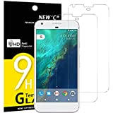 NEW'C Verre Trempé pour Google Pixel XL,[Pack de 2] Film Protection écran - Anti Rayures - sans Bulles d'air -Ultra Résistant (0,33mm HD Ultra Transparent) Dureté 9H Glass