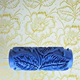 Rullo Honeysuck goffratura decorativo Fiore modello pittura murale 15cm (blu)