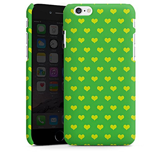 Apple iPhone X Silikon Hülle Case Schutzhülle Herzchen Grün Polka Premium Case matt