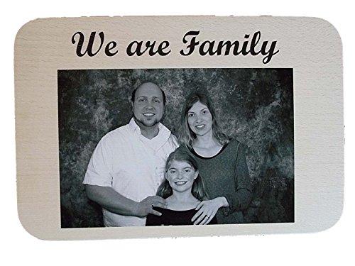 HC-Lasergravur Schneidebrett Frühstücksbrettchen aus Holz mit ihrem persönlichem Foto ✔ Vesperbrett personalisiert mit Foto ✔ Brettchen aus Holz mit Namen für Hochzeit oder Geburtstag