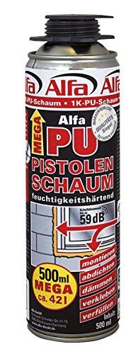 Alfa PU 1K Pistolenschaum 500 ml 1 Komponenten Montageschaum (1)
