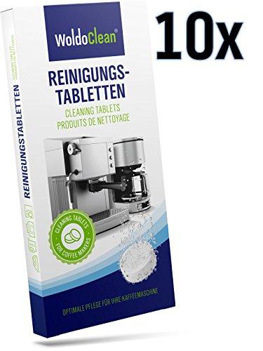 Reinigungstabletten für Kaffeevollautomaten und Espressomaschinen in Blister - kompatibel mit Jura, Delonghi, Bosch, Siemens Seaco, uvm.
