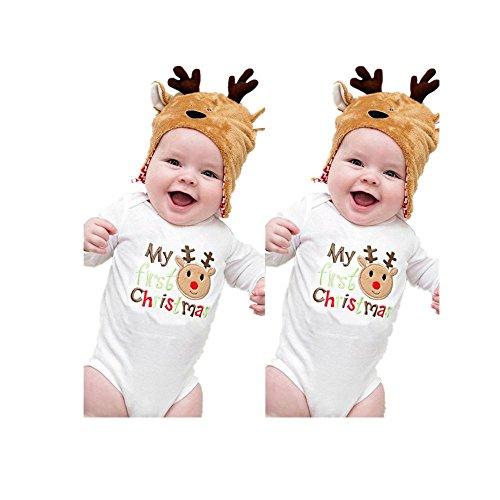 Culater® Natale Newborn bambini pagliaccetto del bambino della tuta della tuta Outfit (80)