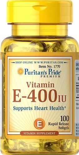 Puritan's Pride Vitamin E - 400 IU - 100softgels.
