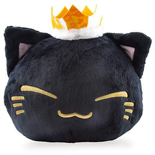 Nemu Nemo Neko Kuscheltier Katze - schwarz mit Prinzessin Krone Manga Anime Otaku Kawaii Stofftier - Plüschtier Plush Cat Katze Merchandise zum Kuscheln Original aus Japan Höhe 25cm und Breite 34cm