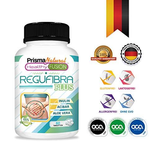 Starkes Probiotikum mit Aloe Vera und Inulin [ 10 Milliarden UFC ] - Reguliert die Darmtätigkeit und verbessert die Verdauung - Beugt Verstopfung vor - Reinigende Wirkung - Vernichtet Toxine - 60 Tabl - Aloe Vera Tabletten