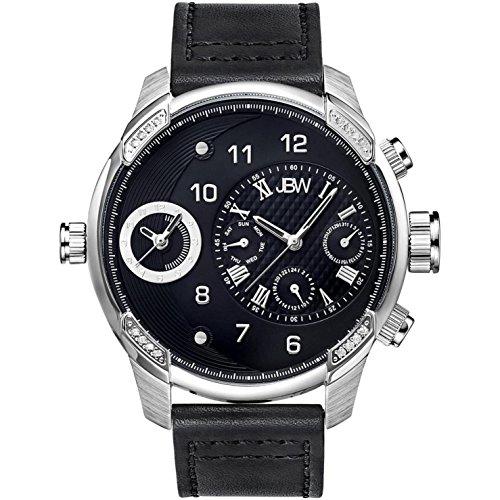 JBW G3 Reloj DE Hombre Diamante Cuarzo Suizo 46MM Correa DE Cuero J6325C