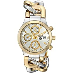 Jivago Women's JV1241 Analog Display Swiss Quartz Two Tone Watch
