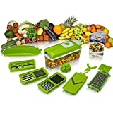 All In One Kitchen Chopper Graters Slicer Chipser, Dicer, Cutter Chopper Fruit & Vegetable Upgraded Model With Unbreakable Poly Carbonate Body And Heavy Stainless Steel Blades By NoorStore