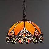 Tiffany Pendelleuchten Luxuriöse Vintage Glasmalerei Deckenleuchte 12 Zoll TPL-003