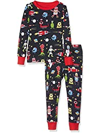 Hatley Jungen Organic Cotton Long Sleeve Printed Pyjama Set