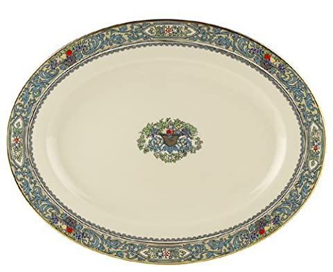 Lenox Autumn 13-Inch Gold-Banded Fine China Platter by Lenox