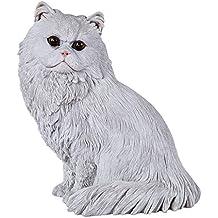 Yowinlo Estatuas Figuritas Decoración Simulación Adornos De Gato Modelo De Gato Persa Decoraciones para El Hogar