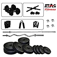Stag 5 ft Sraight and 3 Ft Curl Rod Set 12 kg SFPCPR12GHSD Home Gym Set
