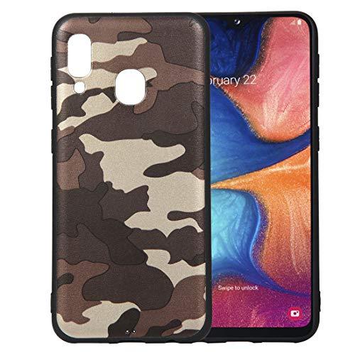 bel mit Samsung Galaxy A20E, Wasserdicht Stoßfest Outdoor Handy Case [Tarnung Design] Camouflage-Handyhülle Silikon Handyhülle TPU Bumper Cover Schutzhülle - A#Grau ()