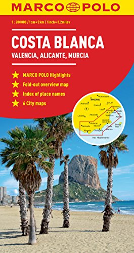 Costa Blanca Marco Polo Map (Marco Polo Maps)