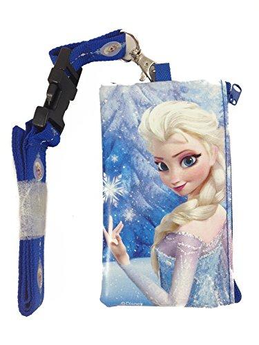 5StarService New Disney blau Frozen Elsa Lanyard ID Holder Wallet perfekt für Disneyland (Disneyland Lanyard)