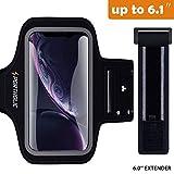 PORTHOLIC iPhone XR Brazalete Deportivo para Correr, Prueba de Sudor Correr Pulsera con Bocallave,Soporte de la Ranura,Soporte para iPhone 6 / 6S / 7/8 Plus,Galaxy S8 / S9 Plus,Pixel hasta 6.1 Pulgas