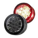 LED Einbau Rücklicht Mini Motorrad Roller Quad 20mm Getönt mit