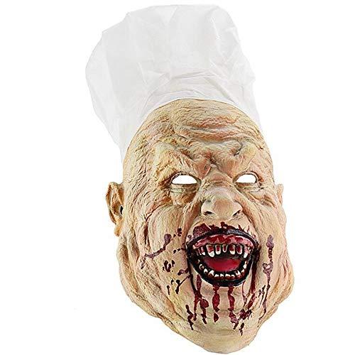 SAILORMJY Maske Halloween, Cosplay Maske Kreative Lustige Requisiten Latex Maske Weihnachtsartikel Szenenlayout Horrorfilm Requisiten Merchandise Zubehö (100 Kreative Kostüm)