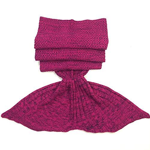 MIRRAY Mermaid Tail Blanket Crochet and Mermaid Blanket Summer Super Soft Sleeping Bag