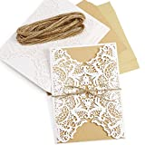 Carta Kraft 10x biglietti d' invito per nozze Baby Shower Birthday party Xmas