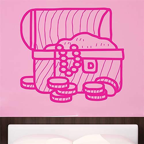 stickers muraux fée clochette Coffre au Trésor Pirate pour chambre d'enfants