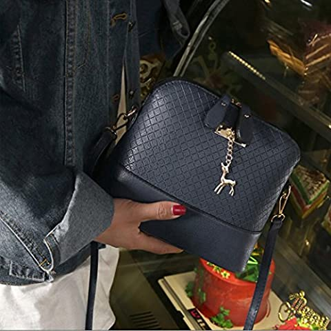 Women's Shoulder Bags, OverDose Solid Deer Ornaments Messenger Bag (22.5 x 10 x 20cm, Blue)