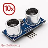 AZDelivery ⭐⭐⭐⭐⭐ 10 x HC-SR04 Ultraschall Modul Entfernungsmesser Sensor für Raspberry Pi und Arduino mit gratis eBook!