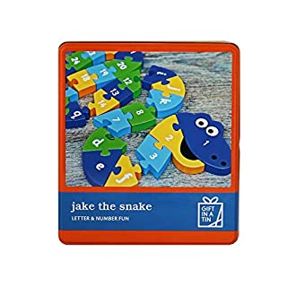 Apples to Pears Big Tin Puzzle Jake The Snake, Buchstabe und Zahlen in Einer Dose