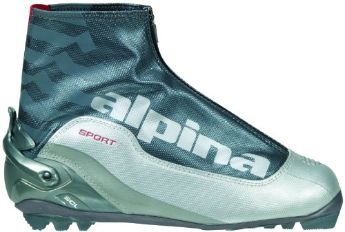 alpina SCL Sport Serie Langlauf Nordic Classic Ski Boots, Silver/Charcoal (Alpina Boot Country Cross Sport)