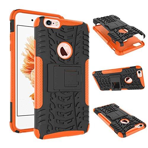 """iPhone 6S Plus Coque AOFad Béquille Vidéo Protection des lourds orange noir Plastique TPU Hybride Antiskid 2 à 1 Série Pour Femme Homme Accessoires Case 5.5"""" Q028 AOFad Style 115"""