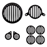 #10: Autofy Plastic Grill for Royal Enfield Bullet Classic (Black, Set of 8)
