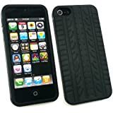 Emartbuy ® Apple Iphone 5 Lcd Screen Protector Und Reifenprofil Silikon Skin Cover / Case Black